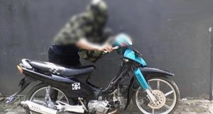 Bandit Apes, Dorong Motor Hasil Curian, Kepergok Buser Polsek Sawangan