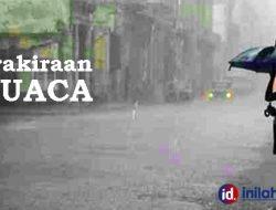 Prakiraan Cuaca BMKG 3 Juli, Wilayah Depok-Bogor Siang dan Sore Hujan